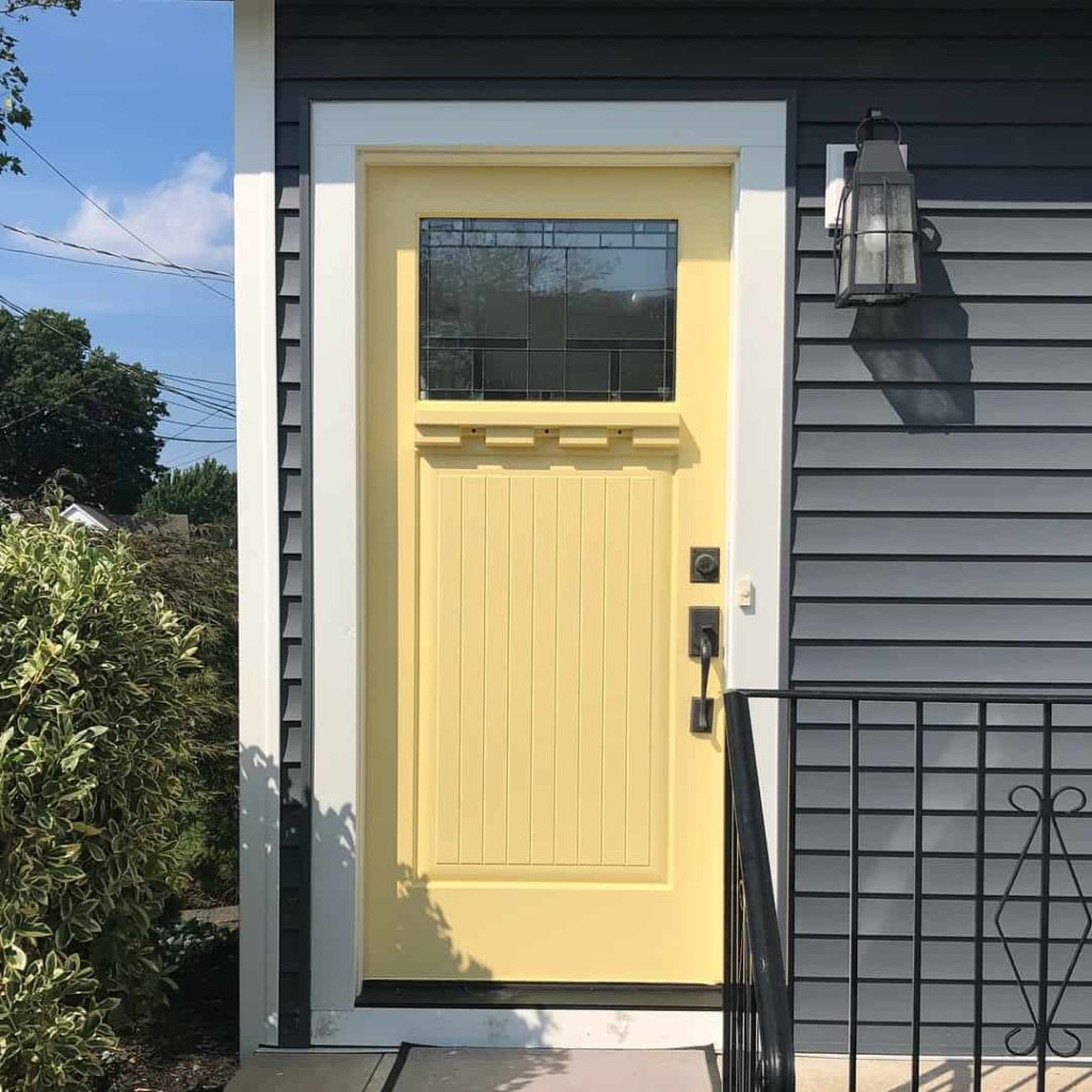 How to pick a front door paint color Yellow