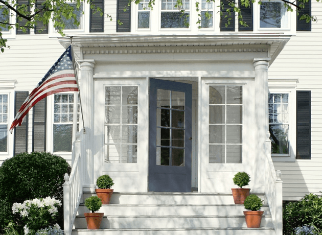 Navy front door