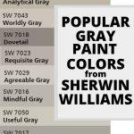 Popular SW Gray Paint Colors