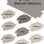 the best gray paint colors from Sherwin Williams