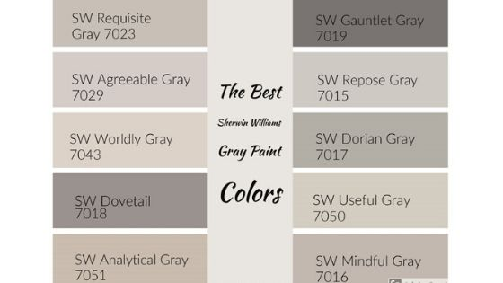 The Best Sherwin Williams Gray Paint Colors - West Magnolia Charm