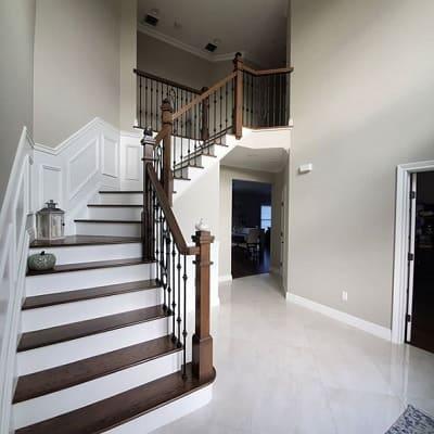Worldly Gray entryway