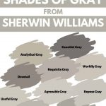 Sherwin WIlliams shades of Gray