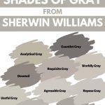 Sherwin WIlliams shades of Gray