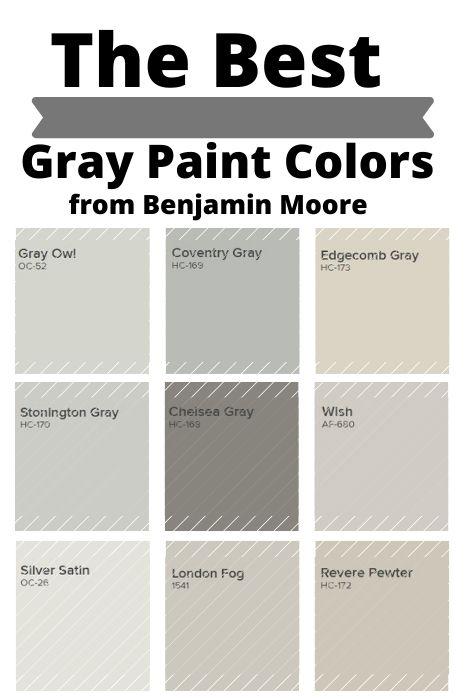 Popular Grays from Benjamin Moore (1)