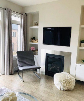 Silver Satin living room
