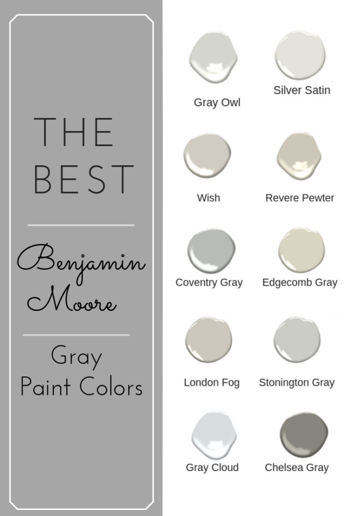 The Best Benjamin Moore Gray Paint Colors West Magnolia Charm