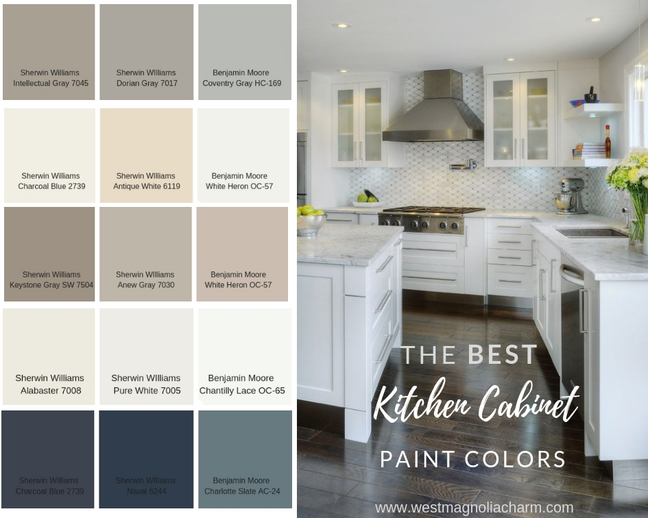 popular kitchen cabinet paint colors west magnolia charm rh westmagnoliacharm com popular kitchen cabinet colors 2017 popular kitchen cabinet colors 2019