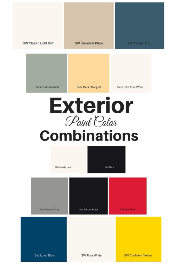 exterior paint color combinations
