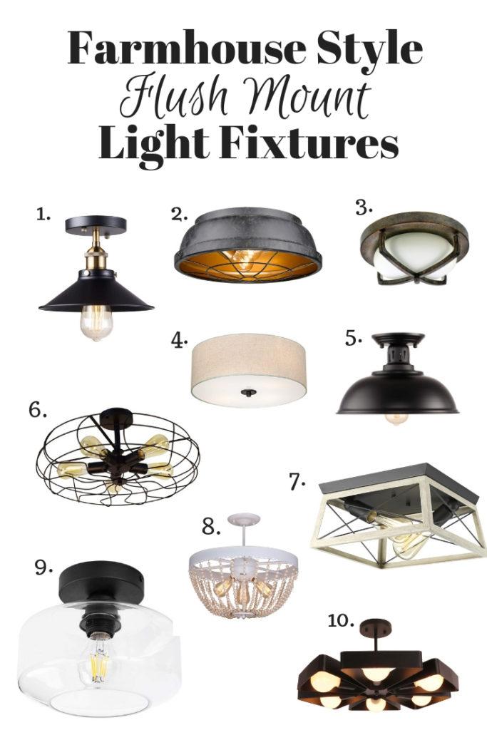 Farmhouse Style flush mount lights