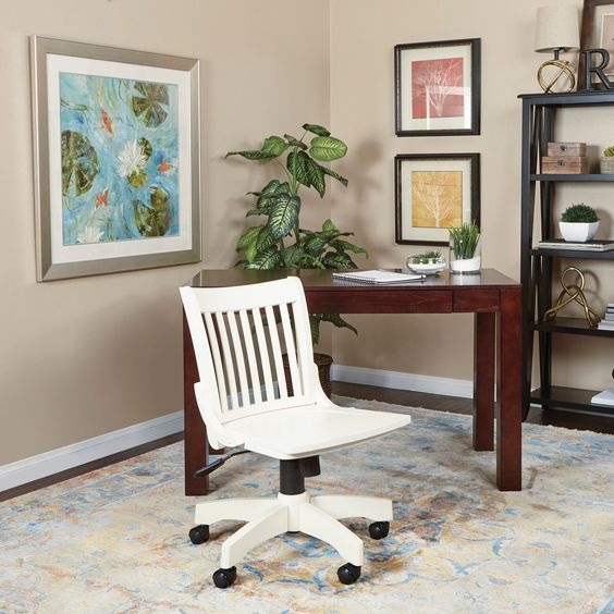 farmhouse office chair overtock