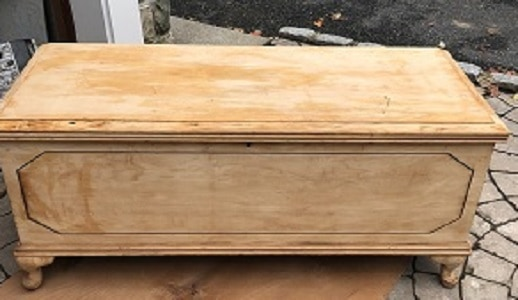 sanded hope chest