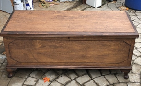 stained hope chest
