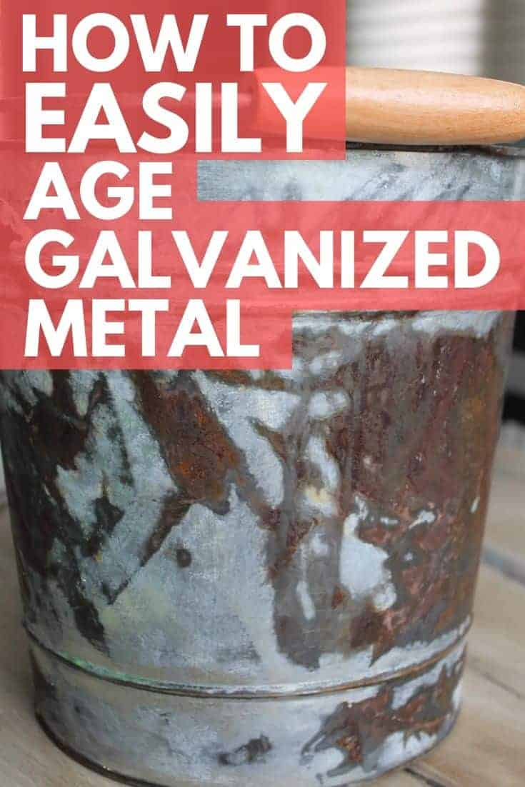 how to age galvanized metal