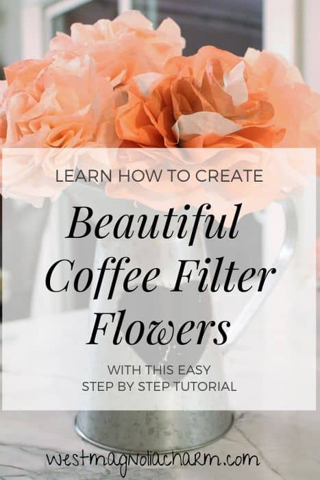 How to make coffee filter flowers (1)