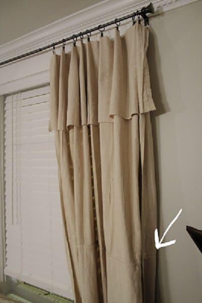 no sew drop cloth curtain