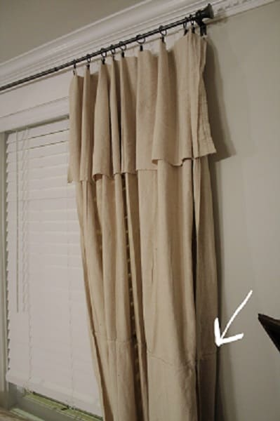 no sew drop cloth curtain