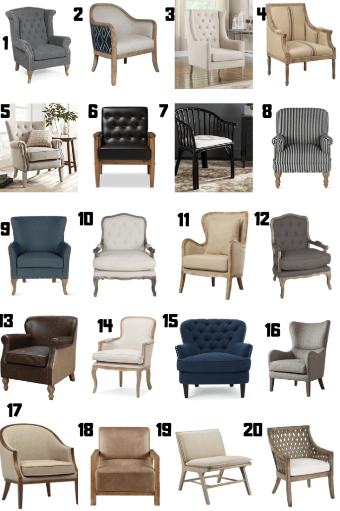 Farmhouse Style Accent Chairs West Magnolia Charm