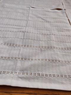 white cloth napkin