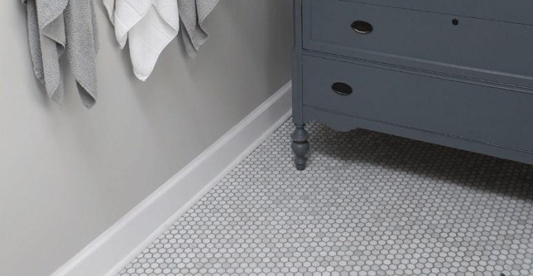 Farmhouse Bathroom Floor Tile West Magnolia Charm