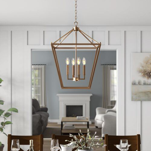 Maggiemae 4-Light Metal Lantern Pendant