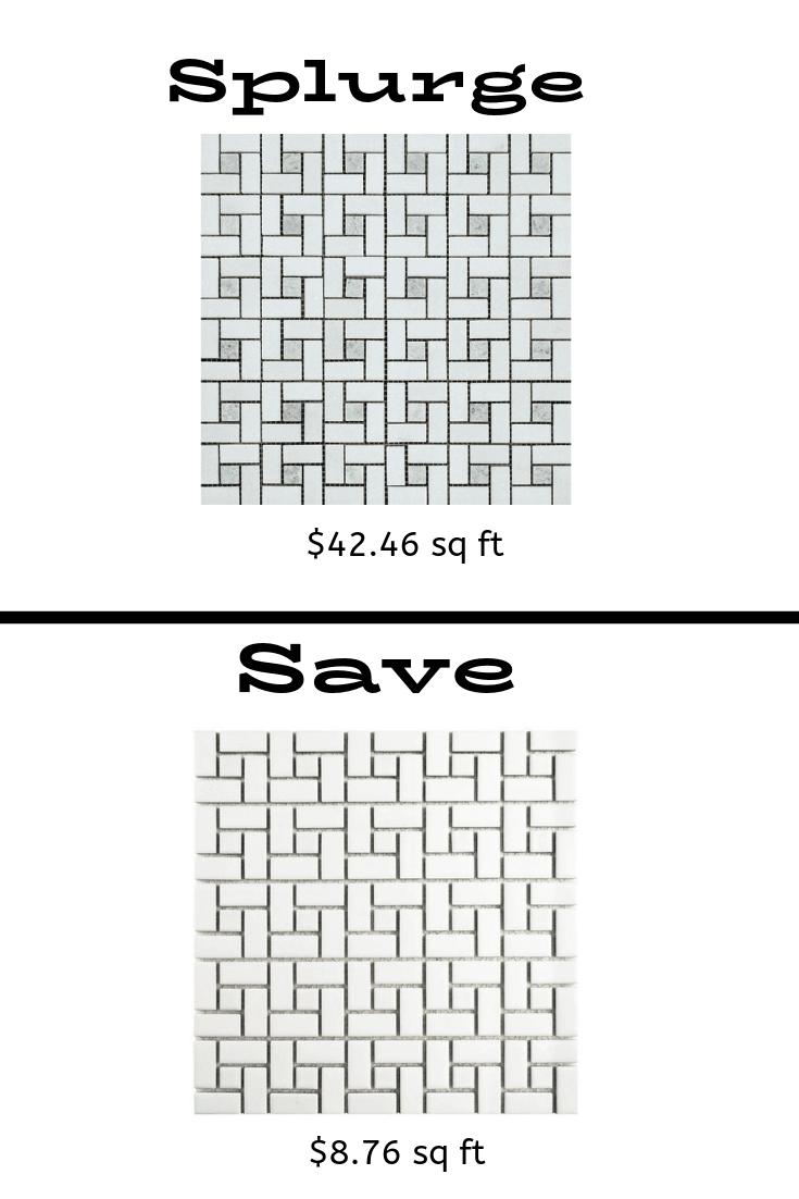 SPLURGE AND SAVE TILE OPTIONS