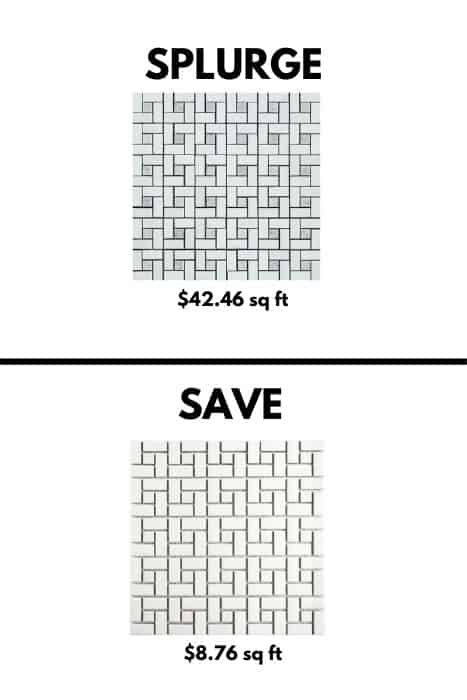 farmhouse tile - splurge vs.save