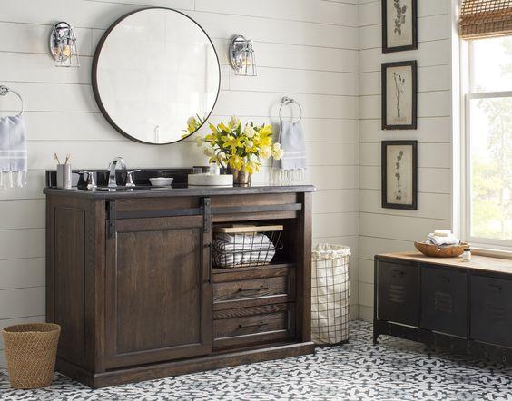 joss & main farmhouse bathroom