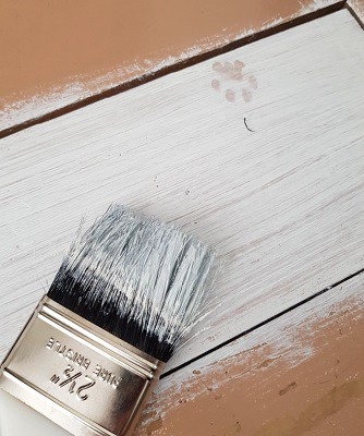 paint brush with paint