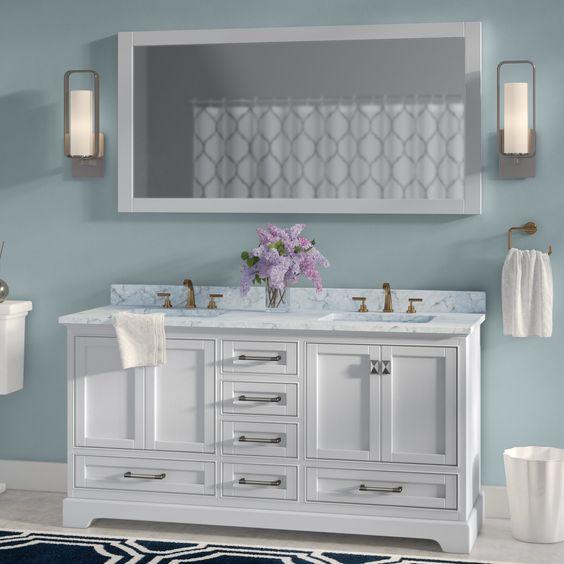 bathroom with white vanity