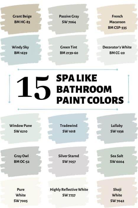 15 Spa like paint colors