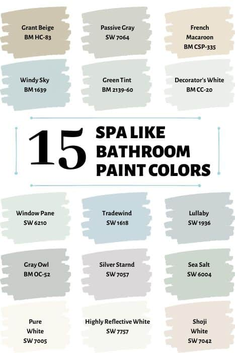 15 Spa like paint colors