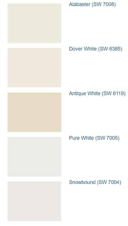 Alabaster SW 7008 comparisons