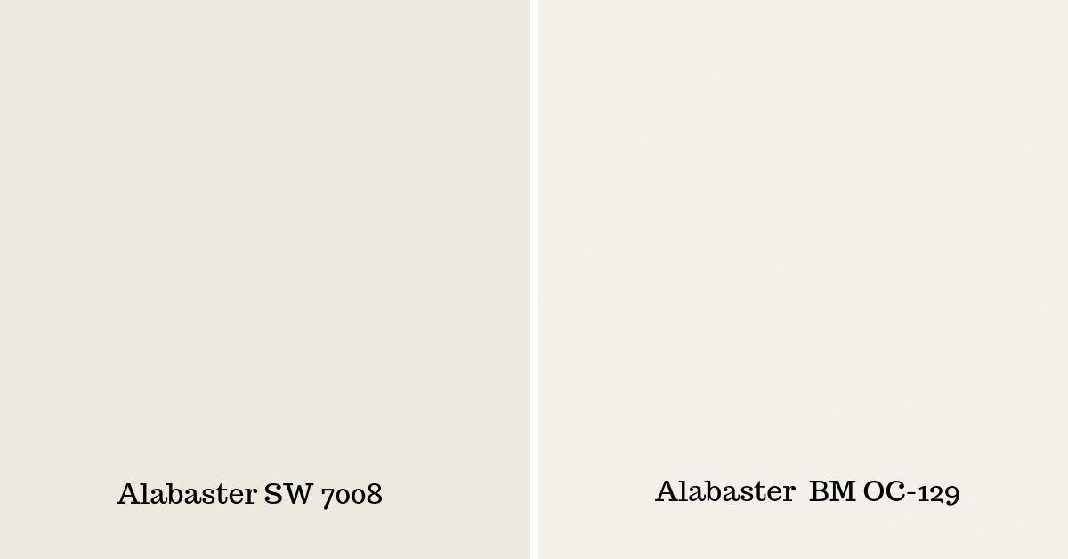 Sherwin Williams Alabaster-SW-vs-Alabaster-BM-