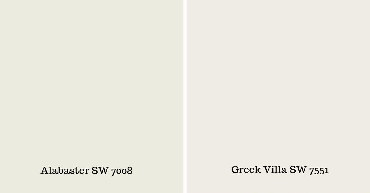greek villa vs alabaster