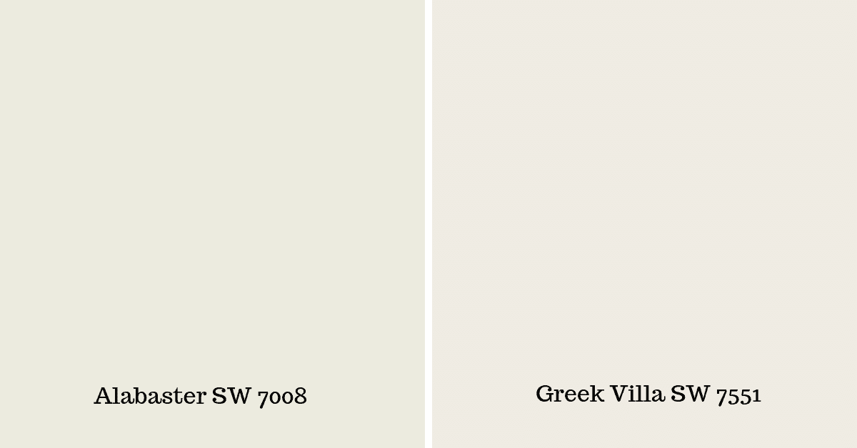 greek villa vs alabaster