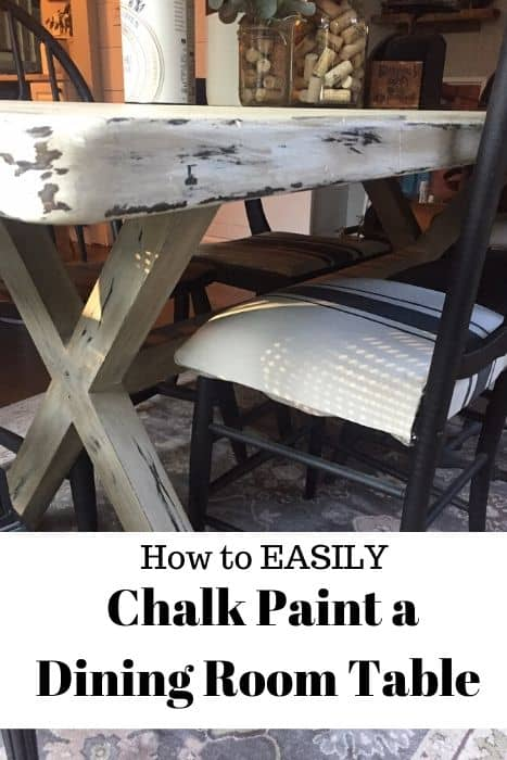 How to Chalk Paint a Dining Room Table