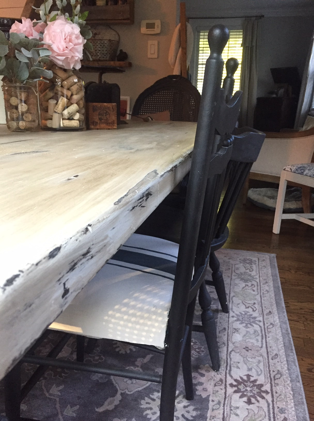 chalk paint dining room table