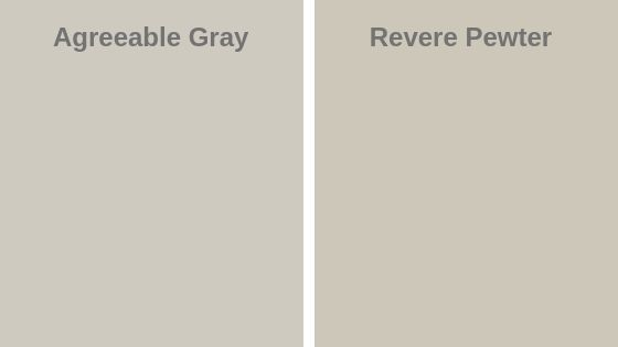 Agreeable Gray vs Revere Pewter
