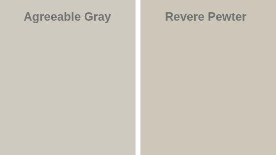 Agreeable Gray vs Revere Pewter