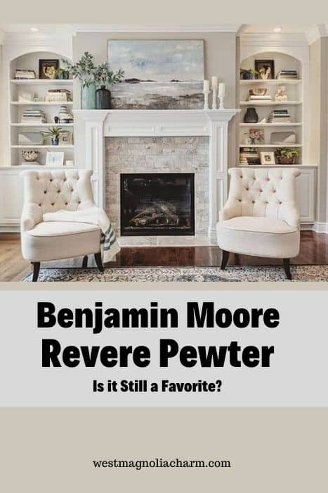 Room painted BM Revere Pewter
