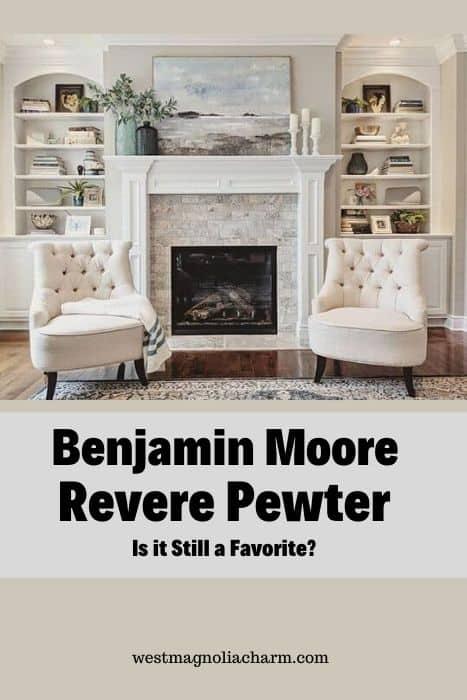 Room painted BM Revere Pewter