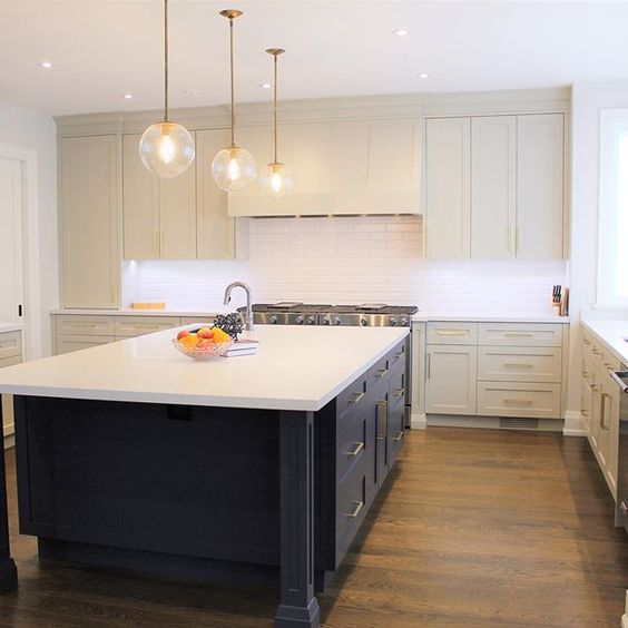 Blue Shell Construction - Revere Pewter Kitchen