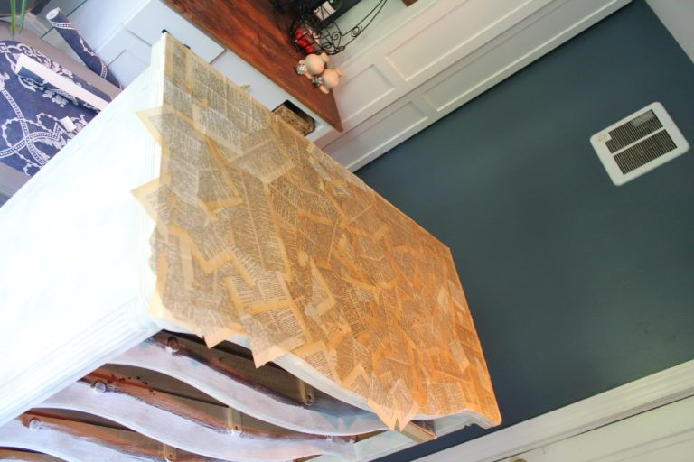 decoupage on wood furniture