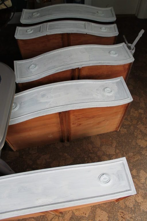 primed dresser drawers