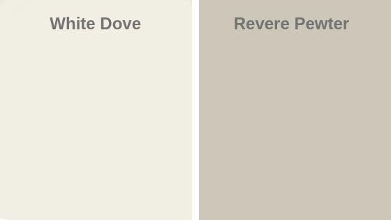 White Dove vs Revere Pewter