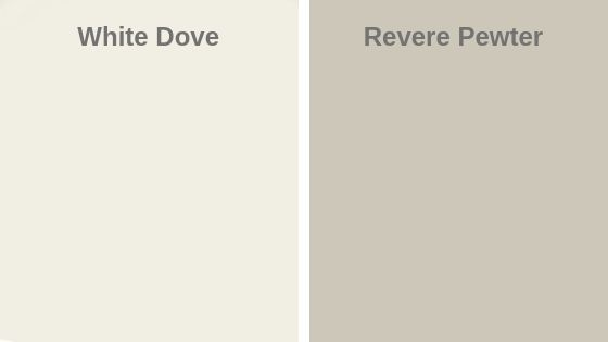 White Dove vs Revere Pewter