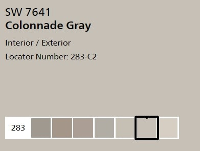 Sherwin Williams Colonnade Gray