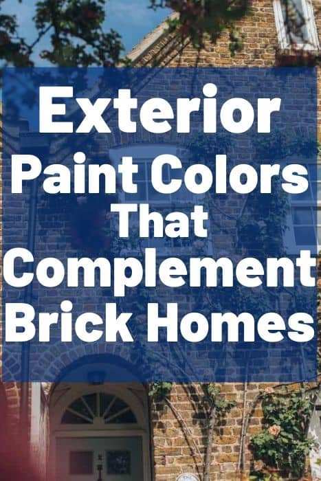 Exterior Paint Colors that complement brick homes (1)