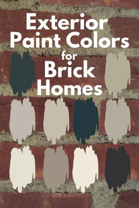 10 Exterior Paint Colors For Brick Homes West Magnolia Charm